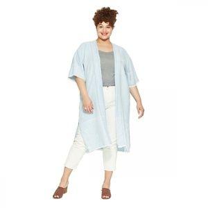 NEW Universal Thread Duster Denim Kimono XS Blue